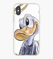 Charcoal and Oil - Angel Donald Duck iPhone Case