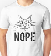 NOPE Grumpy Cat Gift - For Cat Lovers Unisex T-Shirt