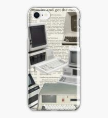 801RB, Retro, Vintage Computer Collage iPhone Case/Skin