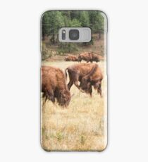 Bison Grazing Samsung Galaxy Case/Skin