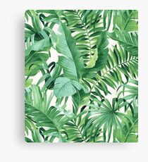 Green tropical leaves II Canvas Print