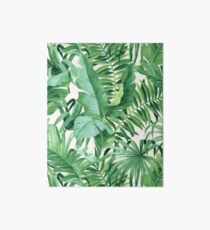 Green tropical leaves II Art Board