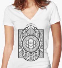 Ultra Sacred Geometry Women's Fitted V-Neck T-Shirt