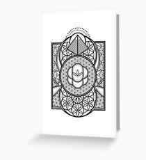 Ultra Sacred Geometry Greeting Card