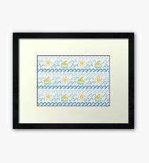 Little Boat_pattern Framed Print