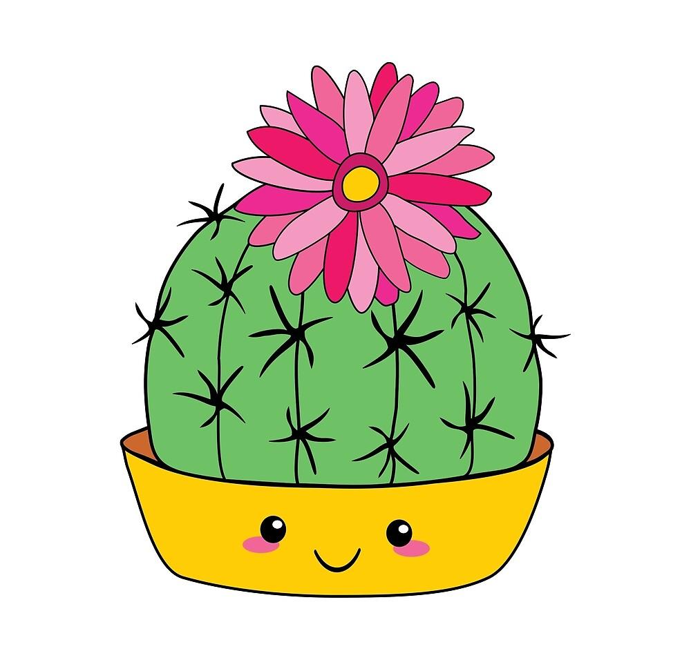 Cute Cactus by Bikki