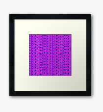 The straight story in wavy lines Framed Print