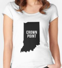 Crown Point, Indiana Silhouette Women's Fitted Scoop T-Shirt