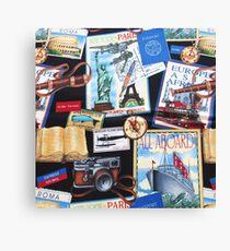 Travel, World Travel Destinations Collage Canvas Print