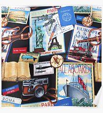 804, Travel, World Travel Destinations Collage Poster