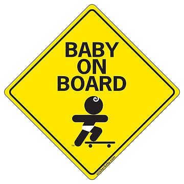 Baby on Board Skateboard static by Louies1