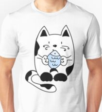 Cat with a fish Unisex T-Shirt