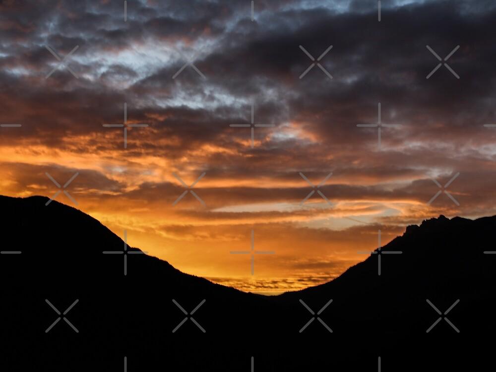 Mountain shape on a dawn by Althea Gianera