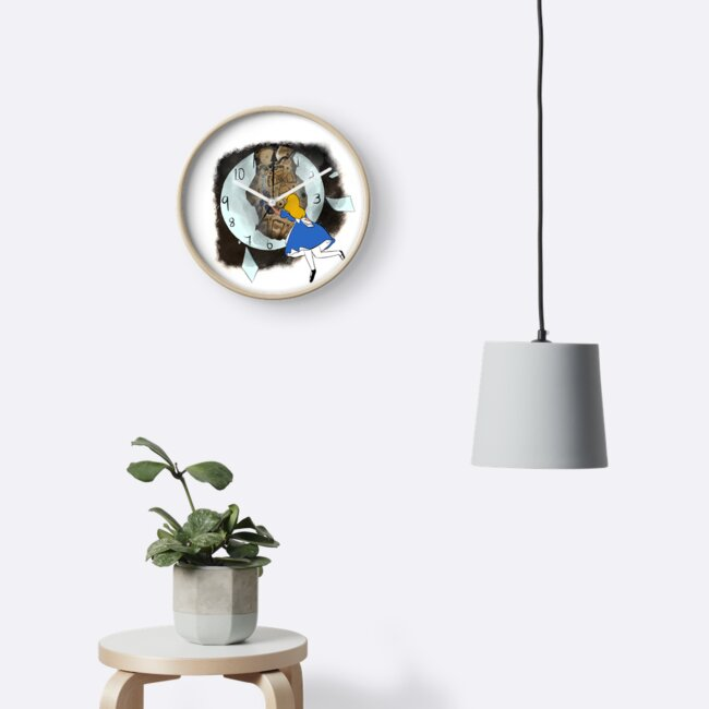 Steam punk Alice through the looking glass clock by Ashleighwebb