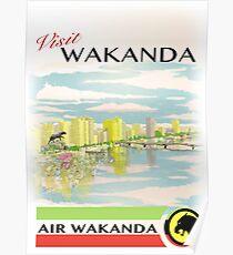 Visit Wakanda- Vintage Travel Ad Poster