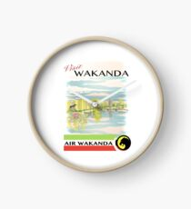 Visit Wakanda- Vintage Travel Ad Clock
