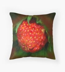 Wild Strawberry Throw Pillow