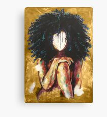 Naturally I GOLD Canvas Print