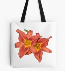 Pair of Orange Day Lilies Tote Bag