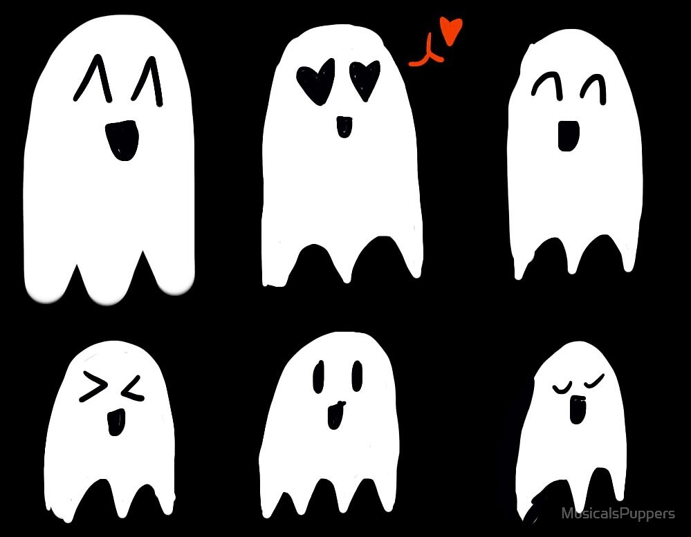 happy ghosts by MusicalsPuppers