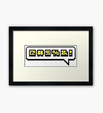Swearing Framed Print