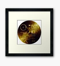 The Voyager Golden Record! Framed Print