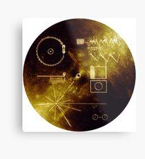 Der Goldene Rekord der Voyager! Metalldruck
