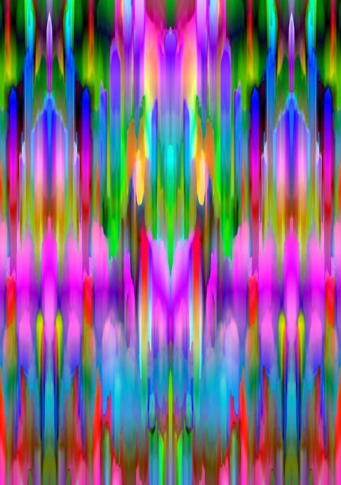 Colorful digital art splashing G489 by MEDUSA GraphicART