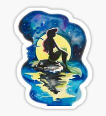 Little Mermaid Watercolor  Sticker
