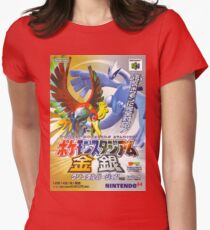 Pokemon Japanese Ho Oh & Lugia Poster Womens Fitted T-Shirt