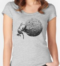 Dung Beetle Rolling Dung Ball | African Wildlife Women's Fitted Scoop T-Shirt