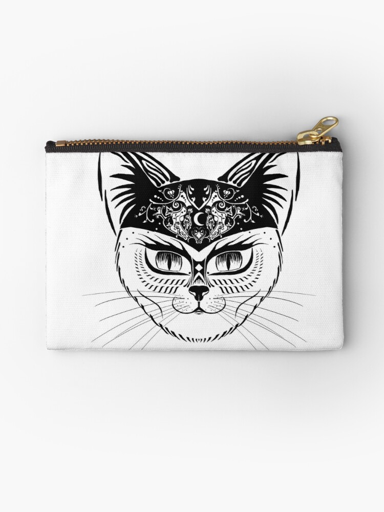 Patterned hipster cat by awyldeart