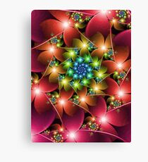 Red flowers fractal Canvas Print