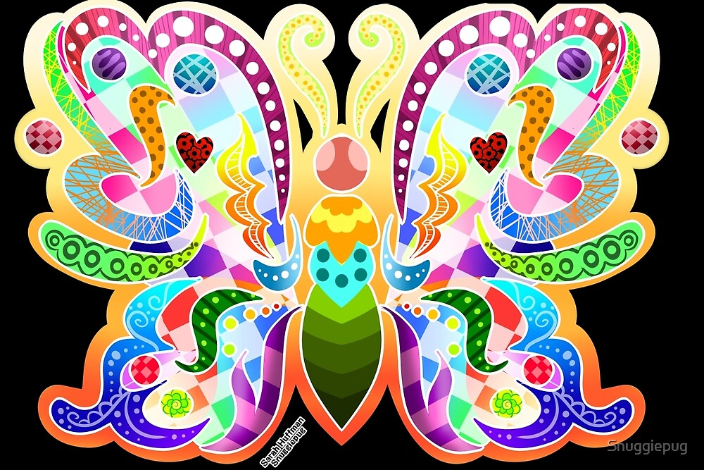 Multi-color Butterfly by Snuggiepug