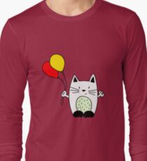 Cat with balloons Long Sleeve T-Shirt