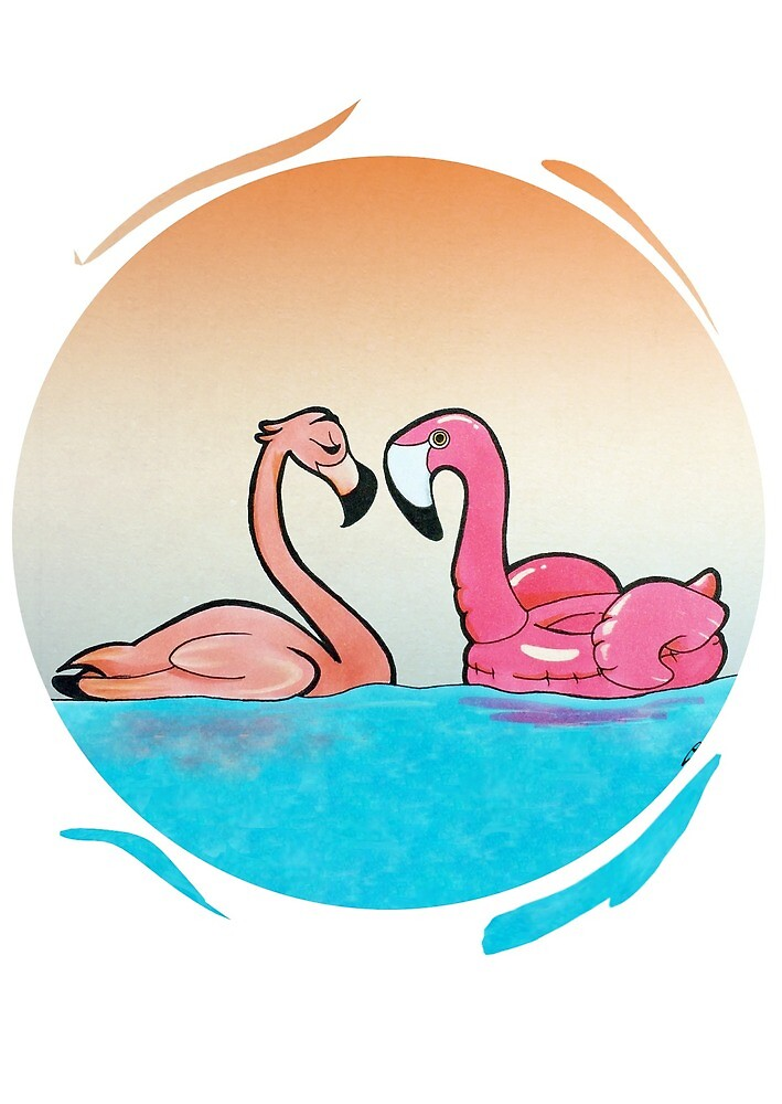 Flamingo Pool by Stefano24