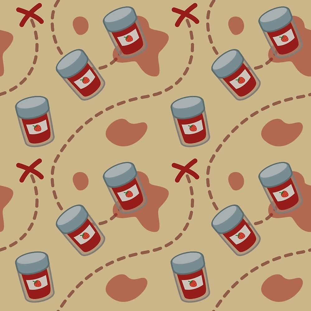 'X' Marks the Strawberry Jam by azdion