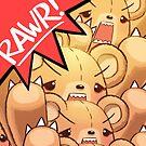 RAWR - RAWRbear Horde by lumineko