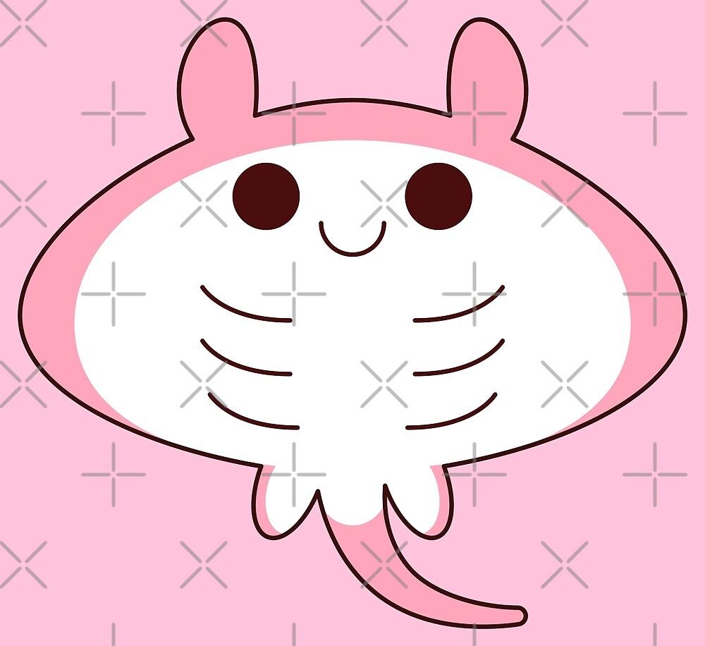 kawaii pink sting ray by kittybox