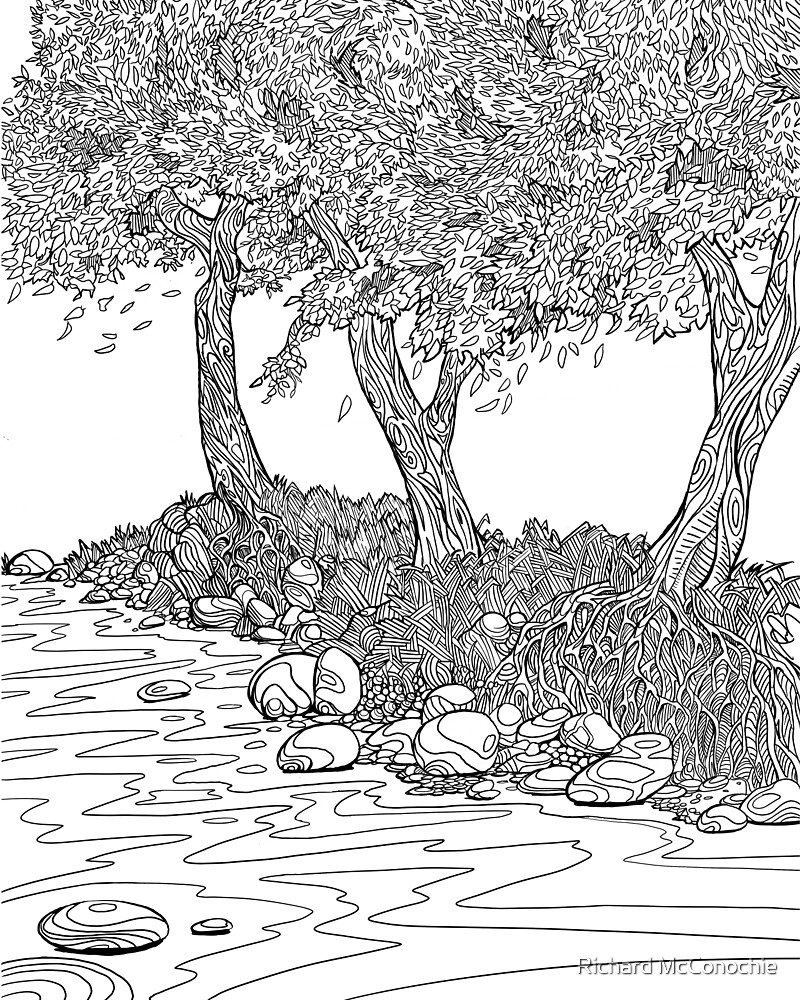 Stream of Coloring by Richard McConochie