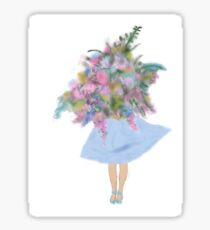 Flower Girl - Transparent Sticker