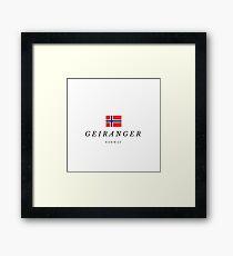 Geiranger in Norway Framed Print