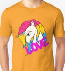 Pansexual Pride Einhorn Slim Fit T-Shirt