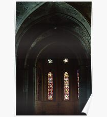 Non Centred Nave ceiling St Francis Church Switzerland 19840817 0027 Poster