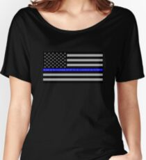 The Thin Blue Line Blessed Are the Peacemakers Women's Relaxed Fit T-Shirt