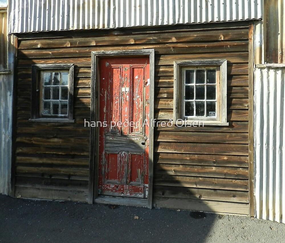The Red Door by hans peðer alfreð olsen