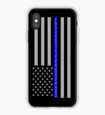 THE THIN BLUE LINE BLESSED ARE THE PEACEMAKERS iPhone Case