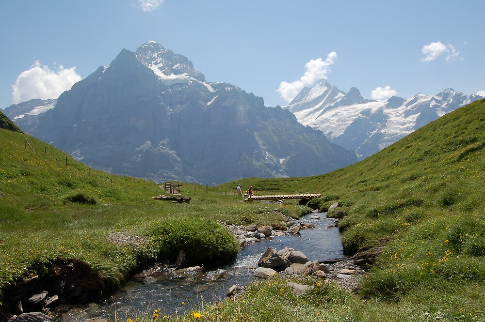 Mountain stream nr first bernese oberland by WyeLookAtThis
