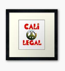 Cali-Legal Peace Framed Print