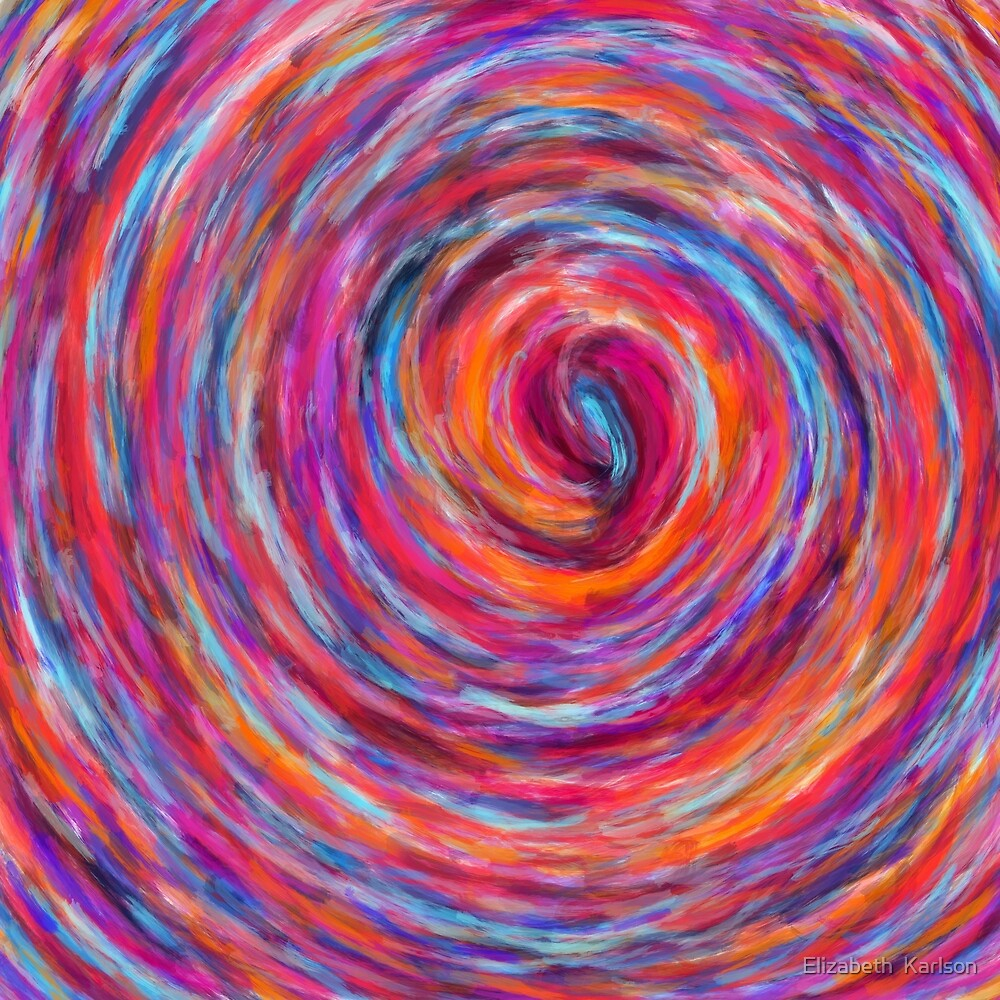 Vibrant Spiral by Elizabeth  Karlson